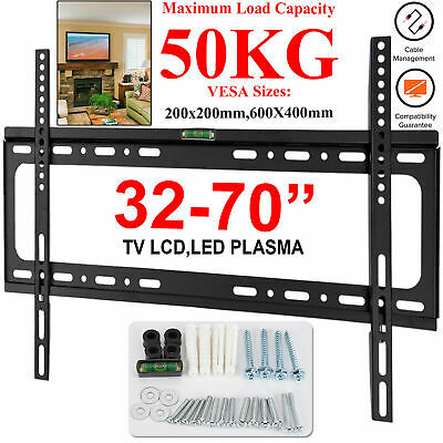 Tv Wall Bracket Mount For 32 40 45 50 55 60 65 70 Inch Led Lcd Plasma Slim Fixed • 9.49£