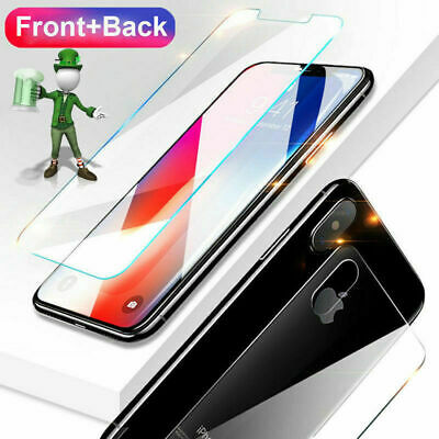 AU7.73 • Buy Front + Back 9H Real Tempered Glass Screen Protector For IPhone X