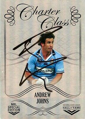 AU59.99 • Buy ✺Signed✺ 2018 NEWCASTLE KNIGHTS NRL Card ANDREW JOHNS Chrome Charter Class #541