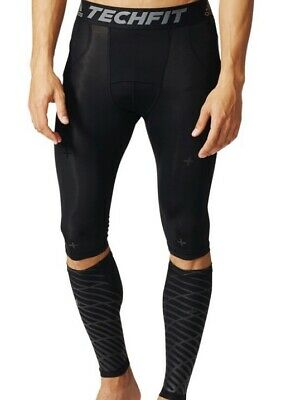 £44.99 • Buy Adidas Techfit 3-In-1 Recovery Tights And Calf Warmer (B45500) Compression Short