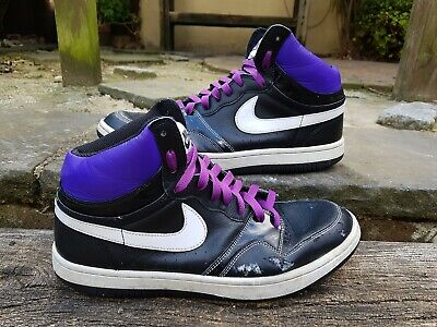 Rare Nike Court Force High Vintage Purple Trainer Size 10 9P6 2009 • 19£