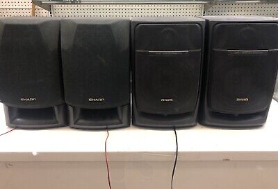 $100 • Buy Pre-owned 4 Piece Sharp And Aiwa Speaker System