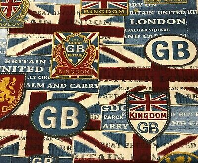 Good Old Blighty | British Flag Union Jack Fabric | Double Width 280cm |Curtains • 29.95£