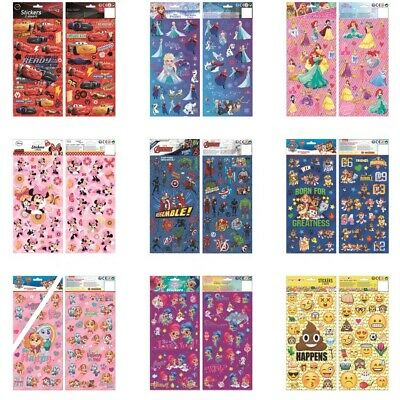 Children Character Kid Fun Stickers 2 Sheets Party Pack Play Loot Bag Filler Art • 2.95£