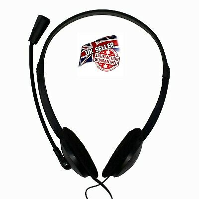 Quality Stereo   Headset With Microphone For  PC Laptop Skype  Zoom Conference   • 7.99£