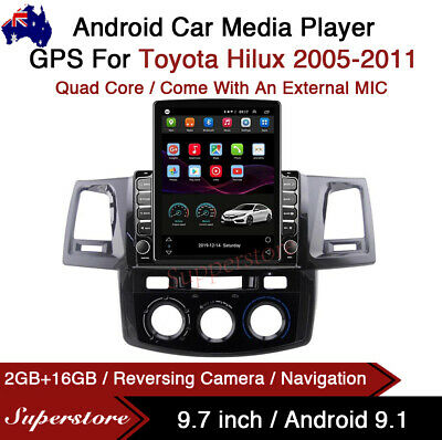 "AU499.99 • Buy 9.7"" Android 9.1 Car Stereo Non DVD USB GPS Head Unit For Toyota Hilux 2005-2011"