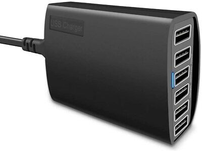 AU48.59 • Buy RAVPower 60W 12A 6-Port USB Charger Desktop Charging Station With ISmart (black)