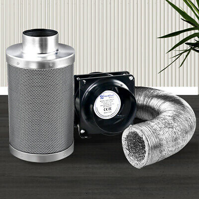 AU152.90 • Buy Greenfingers Grow Tent Kit 6  Hydroponics Ventilation Kit Fan Carbon Filter Duct
