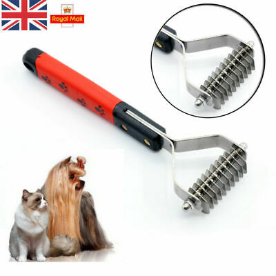Pet Dog Cat Dematting Grooming Deshedding Trimmer Tool Hair Fur Comb Brush Rake • 4.69£