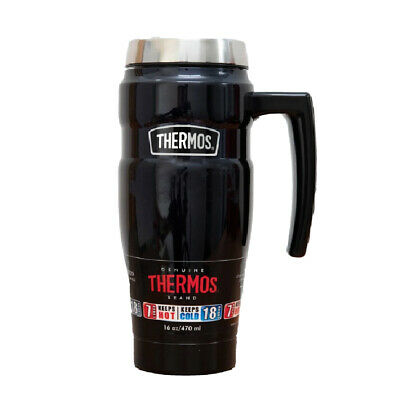 AU43 • Buy Thermos 470ml Stainless Steel Vacuum Insulated King Tumbler/Mug With Handle Blue