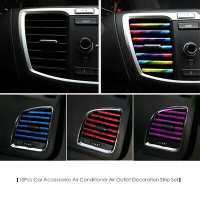 AU5.48 • Buy 10x Auto Accessories Car Colorful Air Conditioner Air Outlet Decoration Strip