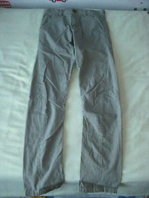 BNWT Next Boys Grey Skinny Twist Chino Trousers 11 Years Adjustable Waist • 8.99£