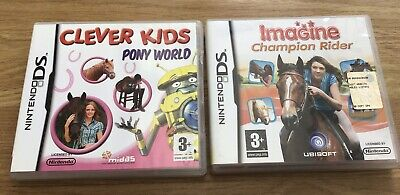 Imagine Champion Rider And Poney Word Ds Games Bundle • 5.99£