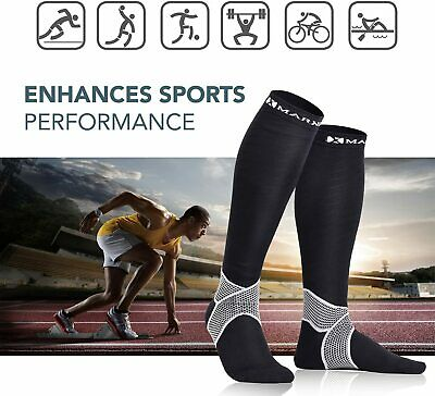 Men Women Compression Socks Stockings Injury Recovery Pregnancy Pair Size Large • 6.99£