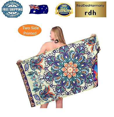 AU40.73 • Buy Sand Free Travel Beach Towel Blanket-Quick Fast Dry Super Absorbent Lightweight
