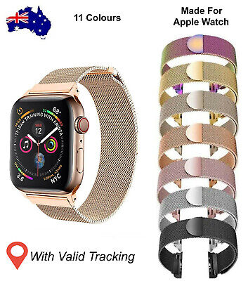 AU13.98 • Buy Strap For Apple Watch Milanese Loop Band Magnetic For IWatch Series SE 6 5 4 3 2