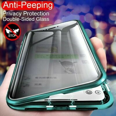 AU25.99 • Buy 360° Privacy Tempered Glass Magnetic Case For Samsung Galaxy S9 S8 S10Plus Cover