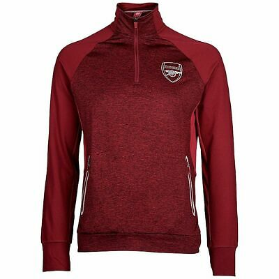 Arsenal FC Official Men's Football 1/4 Zip Top Jacket - Red - New • 16.99£