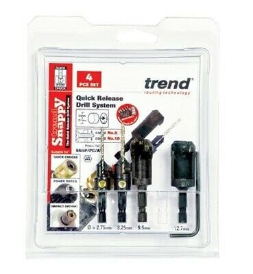 £46.95 • Buy Snappy 4 Piece Set Countersink & Tube Type Plug Cutter Set - SNAP/PC/AT