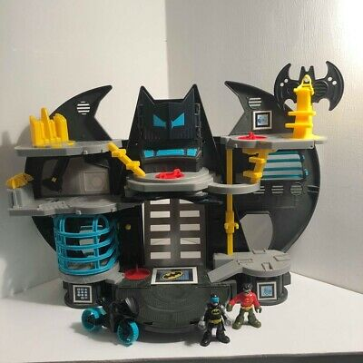 Fisher-Price Imaginext DC Super Friends Battle Bat Cave Toy  Figures  (F6) • 29.99£