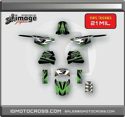 $ CDN71.36 • Buy YAMAHA PW 50 PW50  GRAPHICS KIT DECALS  Fits Years 1990 - 2018 GREEN