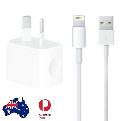 AU4.95 • Buy IPhone 5 SE 6 7 8 S Plus X XR Max IPod/iPad Mini Wall Charger 2m Data Cable