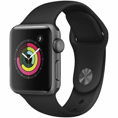 AU439 • Buy Apple Watch Series 3 42mm Space Grey Aluminium Case With Grey Sport Band - GPS