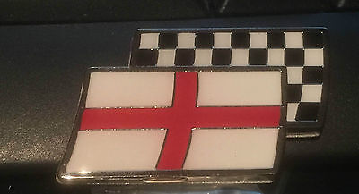 £3.99 • Buy St Georges & Chequered Flag Car Badge MG ZR TF MGF ZS ZT ZTT, Rover Sports