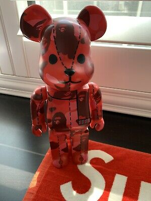 $999.99 • Buy Bearbrick Medicom 2005 A Bathing Ape 1st Camo Series Red 400% Rare