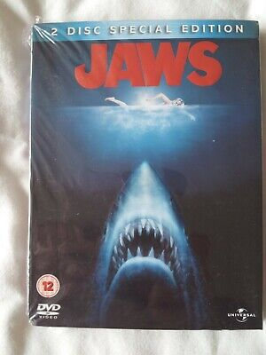 JAWS - 2 DISC SPECIAL EDITION UK R2 DVD Steven Spielberg Brand New & Sealed 45TH • 9.99£