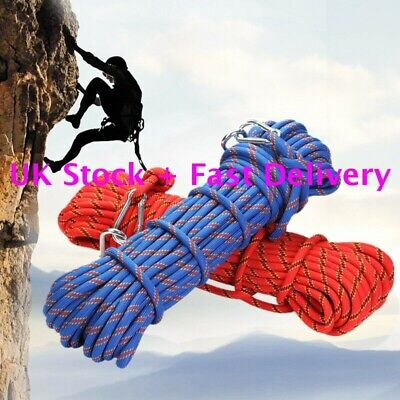 Outdoor Climbing Escape Rope Static Rock Climbing Rope Fire Rescue Parachute • 16.99£