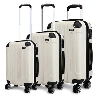 Hard Shell Trolley Suitcase 4 Wheel Spinner Lightweight Luggage Travel Case • 74.99£