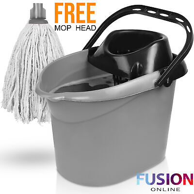 £7.49 • Buy Large Plastic Mop Bucket And Wringer Home Cleaning Dry Floor Clean