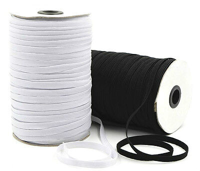 $ CDN54.44 • Buy Elastic 6 Cord Flat, 5mm Wide Black Or White,164 Metres Ideal For Masks