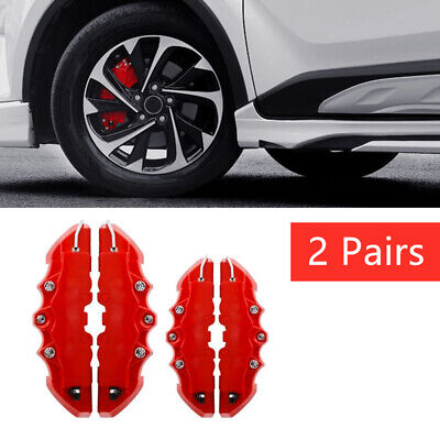 AU20.50 • Buy 4x 3D Red Car Universal Disc Brake Caliper Covers Front & Rear Accessories