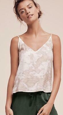 $ CDN43.41 • Buy Anthropologie Lacausa Size XS Gabardia Camisole Tank Top Beige Hand Dyed New NWT