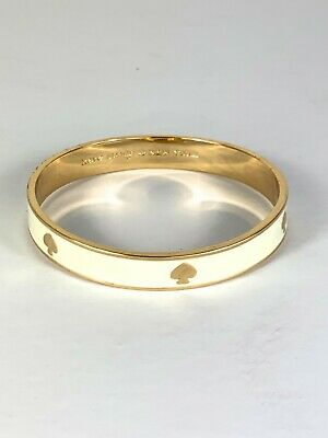$ CDN30 • Buy Kate Spade New York Spot The Spade Gold Tone & White Enamel Bangle Bracelet