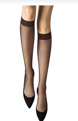 Wolford | Individual 10 | Knee Highs / Socks In Mocca Size: Small • 16.95£