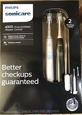 AU125.66 • Buy Philips Sonicare HX6809/83 ProtectiveClean 4300 Rechargeable Toothbrush, 2 Pk.