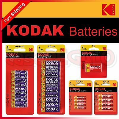 AU12.95 • Buy Kodak Heavy Duty AA AAA C D 9V Batteries Battery Zinc Chloride Bulk 1.5V