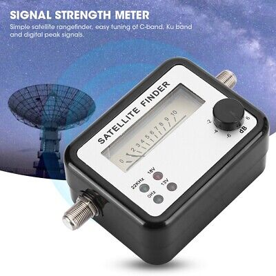 SF9504dB Digital Display Satellite Finder TV Signal Strength Meter 950~2150MHz • 8.24£