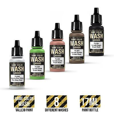 WWG Vallejo Game Color Wash (Choose Colour) - Wargame Miniature Figure Painting • 3.35£