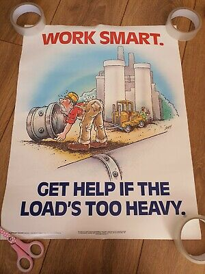 £25 • Buy Vintage Health And Safety Poster. Work Smart. 1997.