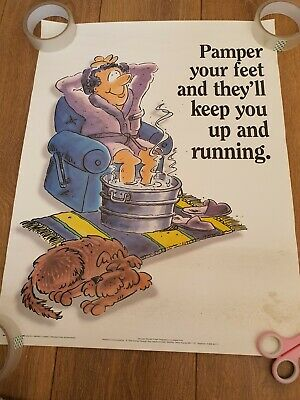 £25 • Buy Vintage Health And Safety Poster. Pamper Your Feet. 1996.