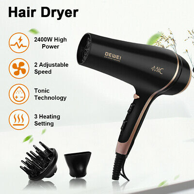 AU39.89 • Buy Ionic Hair Dryer 2400W Professional Styling Hairdryer Diffuser 3 Heat 2 Speed