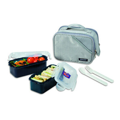 AU29.95 • Buy 2pc Lock & Lock 510ml Lunch Box Food Storage Container Set W/Insulated Bag Olive