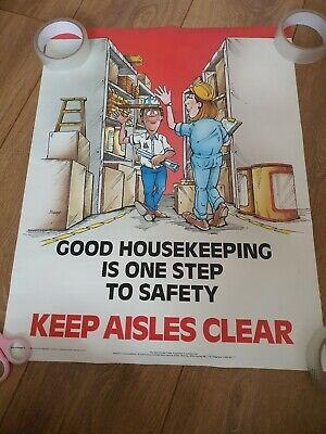 £25 • Buy Vintage Health And Safety Poster. Good Housekeeping. 1997.