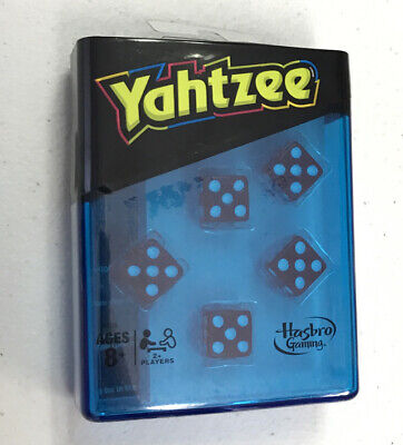 AU18.40 • Buy Yahtzee Neon Pop Travel Game In Blue Case Free Shipping! Hasbro Dice Game