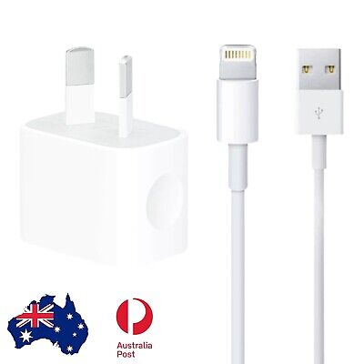 AU3.95 • Buy IPhone 5 5S SE 6 6S 7 8 S Plus X XS XR Max Wall Charger 2m Data Cable Lead
