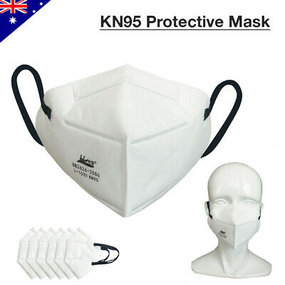 AU19.95 • Buy KN95 Face Mask Anti Dust PM2.5 N95 Activated Carbon Respirator Filter Reusable